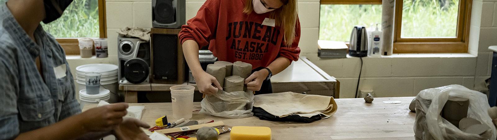 Northland College art classroom