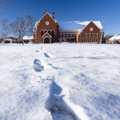 Northland College Ponzio Campus Center in winter