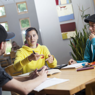 Northland Students in discussion.