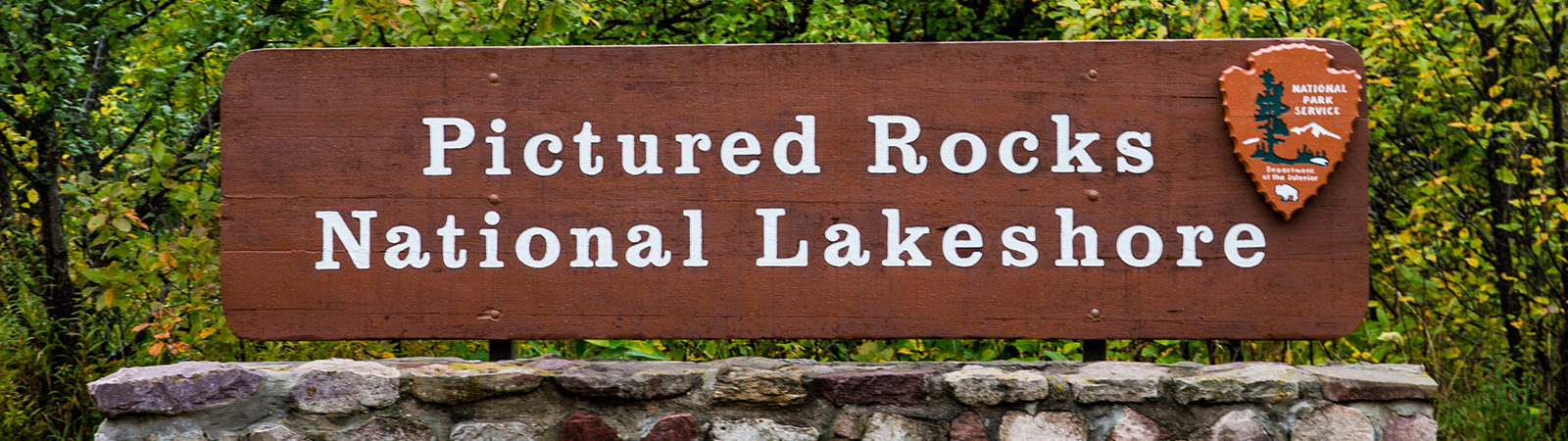 Pictured Rocks National Lakeshore sign