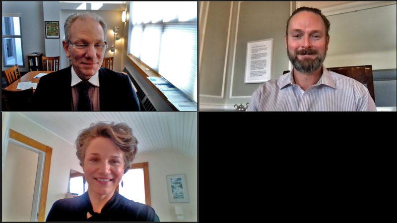 Northland College leadership in virtual meeting