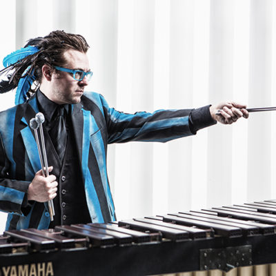 Noah Hoehn plays marimba
