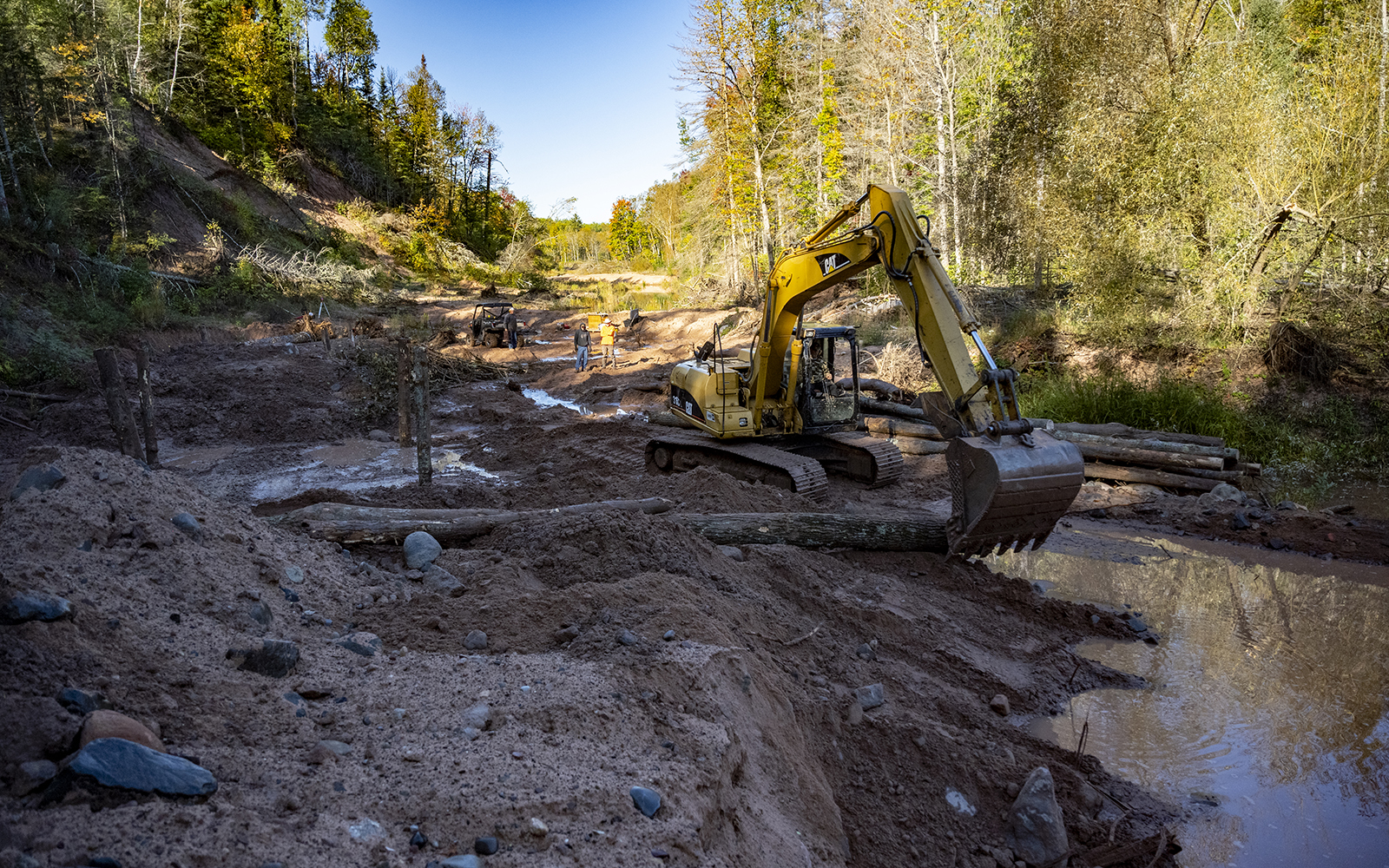 Restoration project on North Fish Creek in northern Wisconsin.