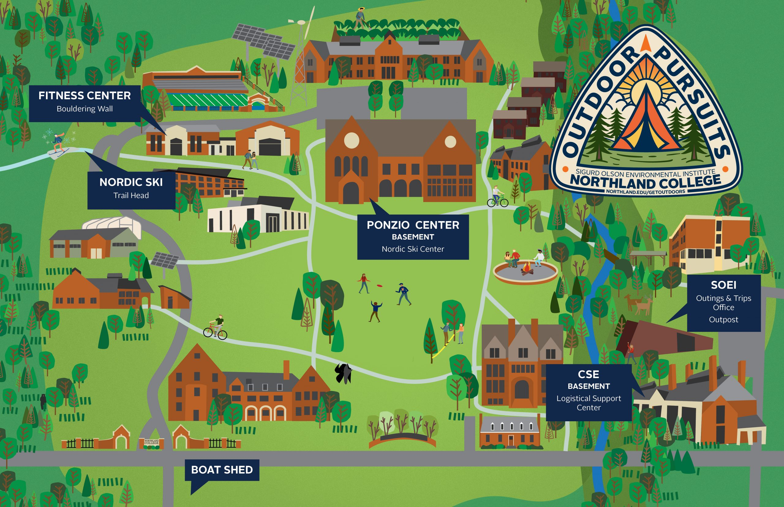 Outdoor Pursuits map