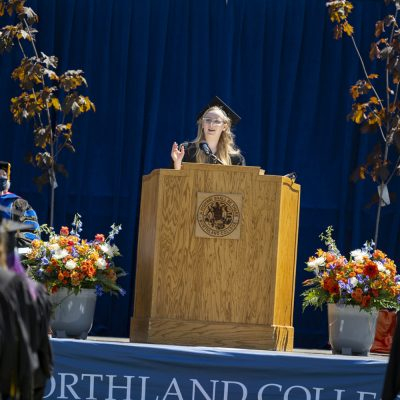 Northland College commencement speaker Ella Shively.